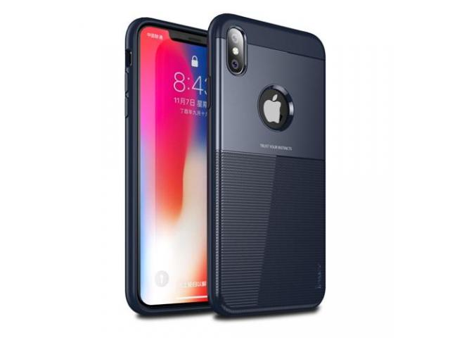 Husa Ipaky Shield Iphone X, XS Negru, Dark blue - 2/5
