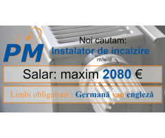 Post Vacant Instalator de incalzire m/w/d in Germania