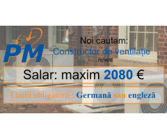 Post Vacant Constructor de ventilație m/w/d in Germania